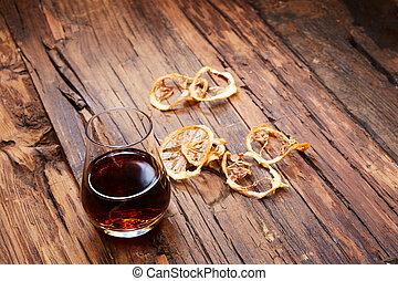vendange, petit, verre vin