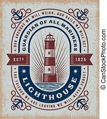 vendange, phare, typographie