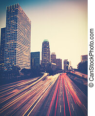 vendange, photo, urbain, ville