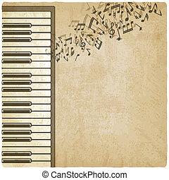 vendange, piano, fond