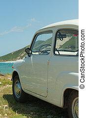 vendange, plage, voiture