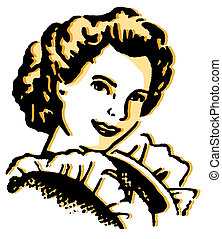 vendange, portrait illustration