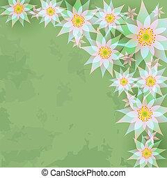 vendange, résumé, fleurs, fond