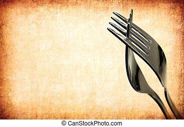 vendange, résumé, fourchette, fond