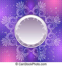 vendange, résumé, vecteur, fond, violet