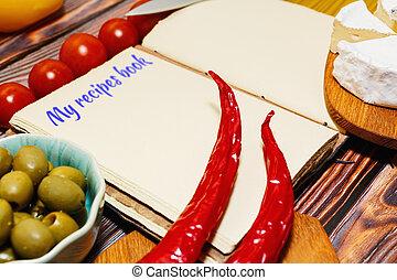vendange, recettes, foyer, sélectif, livre, style