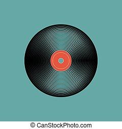 vendange, record., disc., vecteur, musique, illustration, phonographe, vinyle
