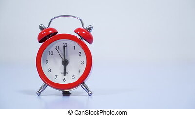 vendange, reveil, rouges, horloge