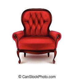 vendange, rouges, fauteuil