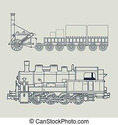 vendange, série train