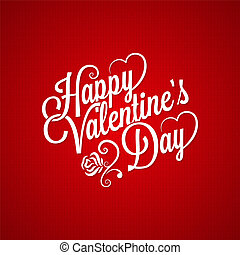 vendange, saint-valentin, fond, lettrage