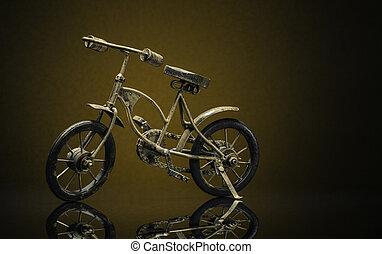 vendange, sepia/brown, vélo, fond, modèle, bronze