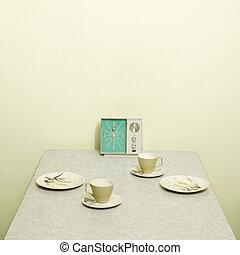 vendange, setting., table