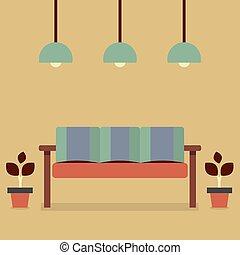 vendange, sofa.
