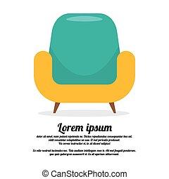 vendange, sofa., coloré