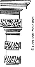 vendange, stalactite, engraving.