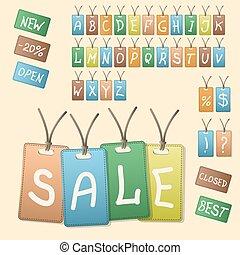 vendange, style, conception, vente, étiquettes