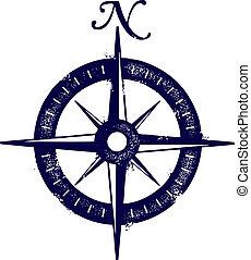 vendange, style, rose compas