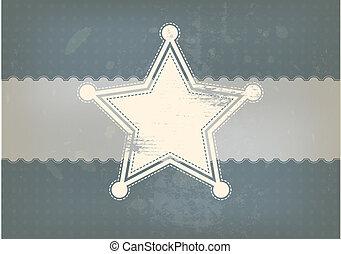 vendange, symbole, étoile, fond