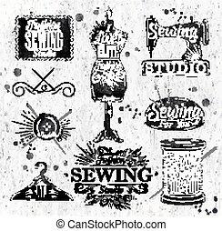 vendange, symbole, couture