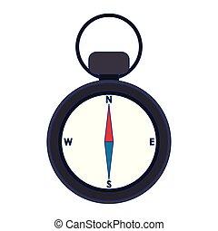 vendange, symbole, navigation, isolé, compas