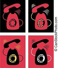vendange, téléphone rouge