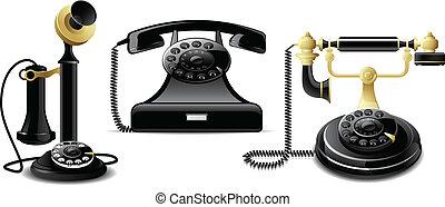 vendange, téléphones