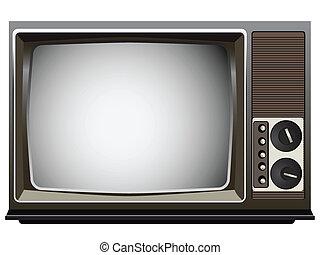 vendange, téléviseur