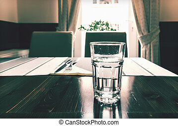 vendange, table, photo, restaurant