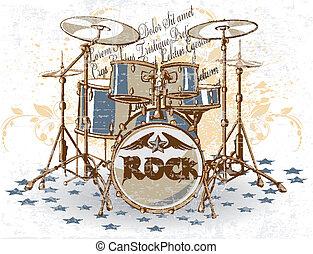 vendange, tambours