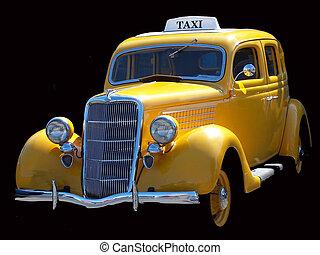 vendange, taxi jaune