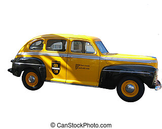 vendange, taxi, taxi jaune