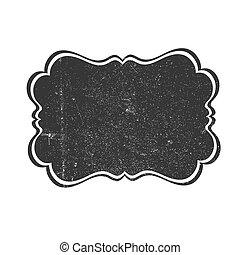 vendange, textured, arrière-plan., étiquette