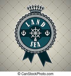 vendange, thème, nautique, étiquette