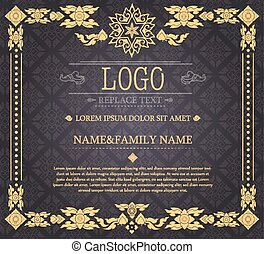 vendange, thaï, style, certificat
