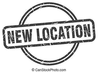 vendange, timbre, emplacement, rond, nouveau, grunge, stamp.