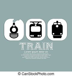 vendange, train, collection.