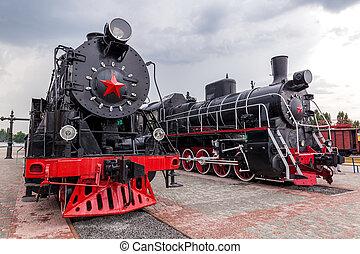 vendange, train vapeur