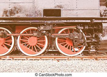 vendange,  train, vapeur