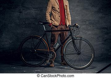 vendange, unique, vitesse, hipster's, bicycle.