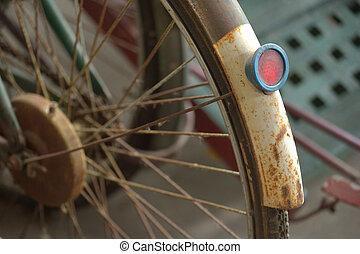 vendange, vélo, détail