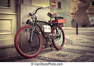 vendange, vélo, ville