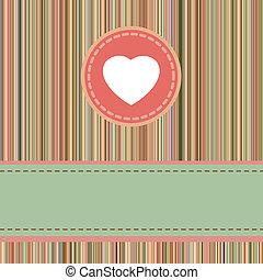 vendange, valentines, eps, template., retro, 8, jour