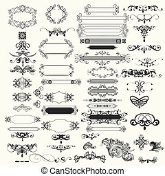 vendange, vecteur, conception, collection, elements.eps