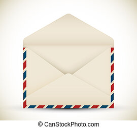vendange, vecteur, enveloppe, ouvert