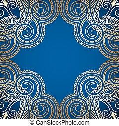 vendange, vecteur, pattern., fond, or