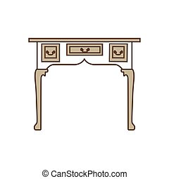 vendange, vecteur, table