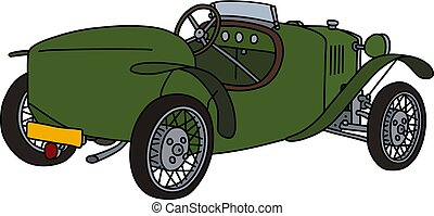 vendange, vert, roadster