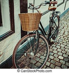 vendange, ville, vélo, dans, copenhague
