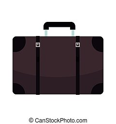 vendange, voyage, dessin animé, valise